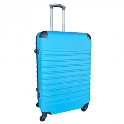 Travelerz reiskoffer met wielen 95 liter - lichtgewicht - cijferslot licht blauw