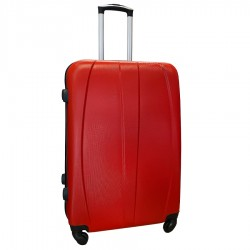 Travelerz reiskoffer met wielen 95 liter - lichtgewicht - cijferslot - rood (8986)