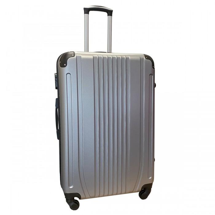 Travelerz reiskoffer met wielen 95 liter - lichtgewicht - cijferslot - zilver (168)