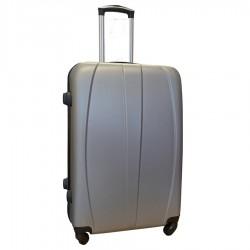 Travelerz reiskoffer met wielen 95 liter - lichtgewicht - cijferslot - zilver (8986)