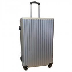 Travelerz reiskoffer met wielen 95 liter - lichtgewicht - cijferslot - zilver (9204)