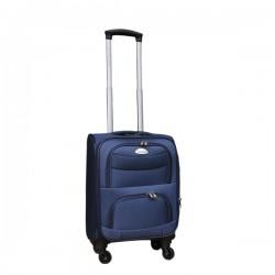 Travelerz stoffen reiskoffer met cijferslot blauw 27 liter (stof)