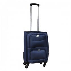 Travelerz stoffen reiskoffer met cijferslot blauw 39 liter (stof)