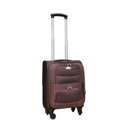 Travelerz stoffen reiskoffer met cijferslot bruin 27 liter (stof)