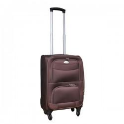 Travelerz stoffen reiskoffer met cijferslot bruin 39 liter (stof)