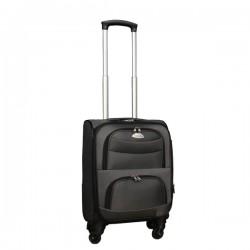 Travelerz stoffen reiskoffer met cijferslot grijs 27 liter (stof)
