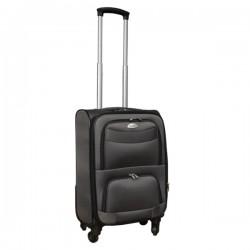 Travelerz stoffen reiskoffer met cijferslot grijs 39 liter (stof)