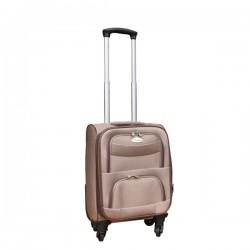 Travelerz stoffen reiskoffer met cijferslot licht bruin 27 liter (stof)