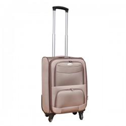 Travelerz stoffen reiskoffer met cijferslot licht bruin 39 liter (stof)
