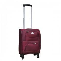 Travelerz stoffen reiskoffer met cijferslot rood 27 liter (stof)