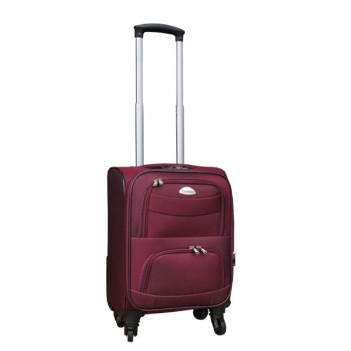 2 delige stoffen handbagage kofferset 27 en 39 liter rood (stof)