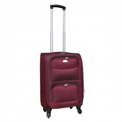 Travelerz stoffen reiskoffer met cijferslot rood 39 liter (stof)