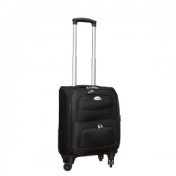 Travelerz stoffen reiskoffer met cijferslot zwart 27 liter (stof)