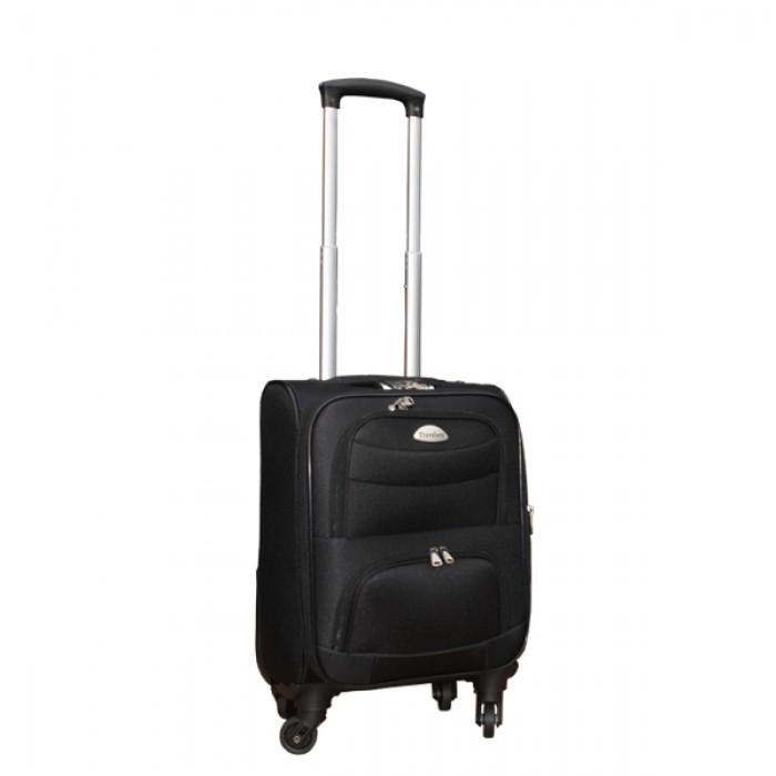 2 delige stoffen handbagage kofferset 27 en 39 liter zwart (stof)