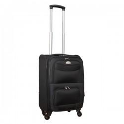 Travelerz stoffen reiskoffer met cijferslot zwart 39 liter (stof)
