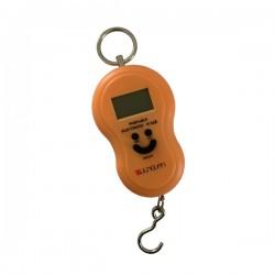 Digitale kofferweegschaal oranje tot 50kg met automatische lock functie