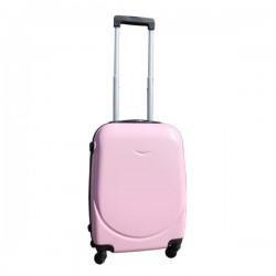 Harde lichtgewicht ABS reiskoffer met cijferslot licht roze 39 liter (138)