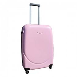 Harde lichtgewicht ABS reiskoffer met cijferslot licht roze 69 liter (138)