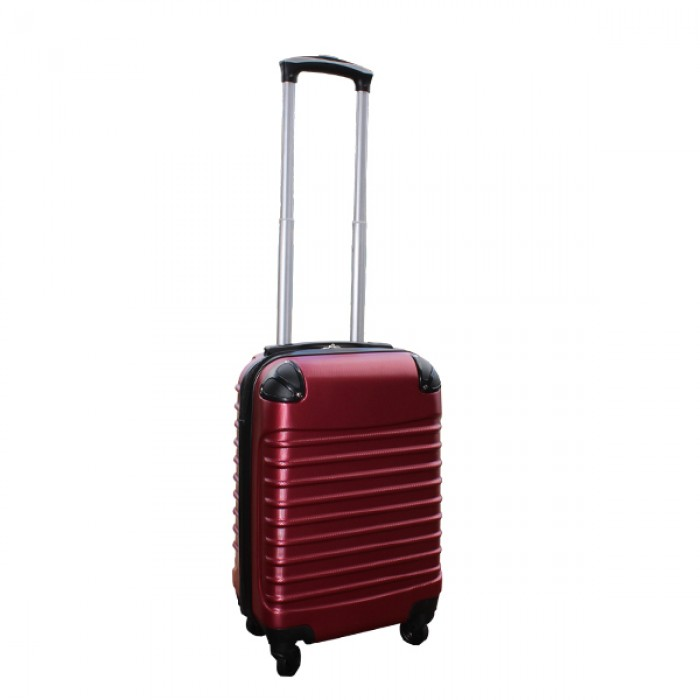 Travelerz handbagage koffer met wielen 27 liter - lichtgewicht - cijferslot - bordeauxrood