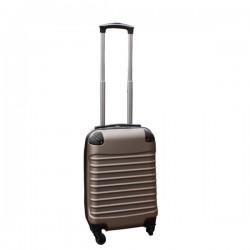 Travelerz handbagage koffer met wielen 27 liter - lichtgewicht - cijferslot - champagne