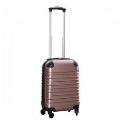 Travelerz handbagage koffer met wielen 27 liter - lichtgewicht - cijferslot - rose goud