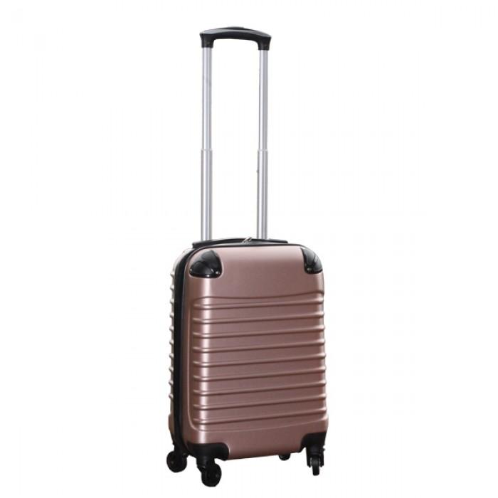 Travelerz kofferset 4 delig ABS - zwenkwielen - met cijferslot - rose goud
