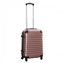 Travelerz handbagage koffer met wielen 39 liter - lichtgewicht - cijferslot - rose goud