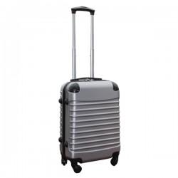 Travelerz handbagage koffer met wielen 39 liter - lichtgewicht - cijferslot - zilver