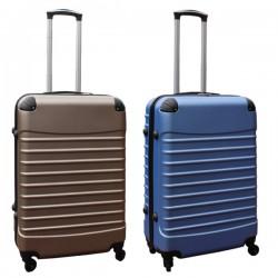 Travelerz kofferset 2 delige ABS groot - met cijferslot - 69 liter - licht blauw - goud