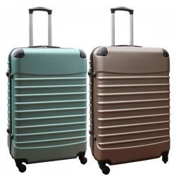 Travelerz kofferset 2 delige ABS groot - met cijferslot - 95 liter - groen - goud