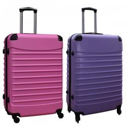Travelerz kofferset 2 delige ABS groot - met cijferslot - 95 liter - licht roze - lila