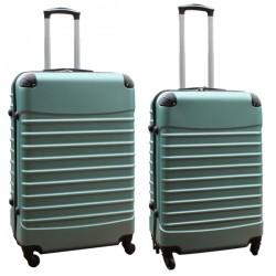 Travelerz kofferset 2 delige ABS groot - met cijferslot - reiskoffers 69 en 95 liter - groen