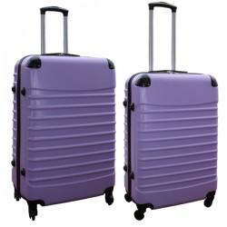 Travelerz kofferset 2 delige ABS groot - met cijferslot - reiskoffers 69 en 95 liter - lila
