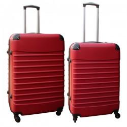 Travelerz kofferset 2 delige ABS groot - met cijferslot - reiskoffers 69 en 95 liter - rood