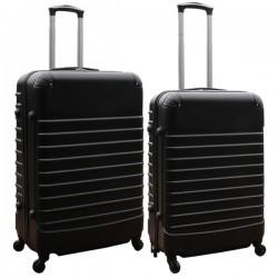Travelerz kofferset 2 delige ABS groot - met cijferslot - reiskoffers 69 en 95 liter - zwart