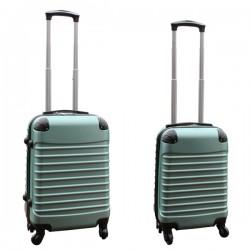 Travelerz kofferset 2 delige ABS handbagage koffers - met cijferslot - 27 en 39 liter – groen