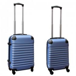 Travelerz kofferset 2 delige ABS handbagage koffers - met cijferslot - 27 en 39 liter – licht blauw