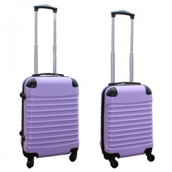 Travelerz kofferset 2 delige ABS handbagage koffers - met cijferslot - 27 en 39 liter – lila