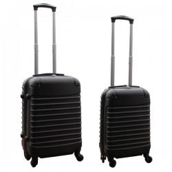 Travelerz kofferset 2 delige ABS handbagage koffers - met cijferslot - 27 en 39 liter – zwart