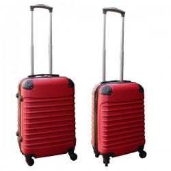 Travelerz kofferset 2 delige ABS handbagage koffers - met cijferslot - 27 en 39 liter - rood