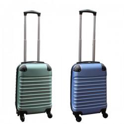 Travelerz kofferset 2 delige ABS handbagage koffers - met cijferslot - 27 liter - groen - licht blauw