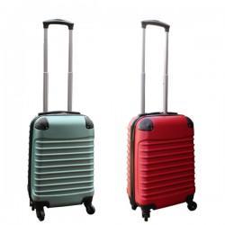 Travelerz kofferset 2 delige ABS handbagage koffers - met cijferslot - 27 liter - groen - rood