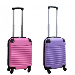 Travelerz kofferset 2 delige ABS handbagage koffers - met cijferslot - 27 liter - licht roze - lila