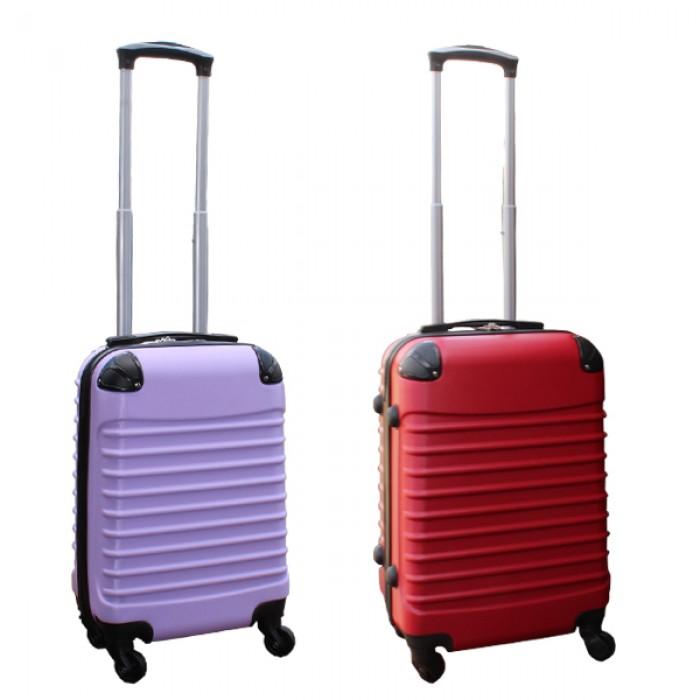 Travelerz kofferset 2 delige ABS handbagage koffers - met cijferslot - 27 liter - lila - rood