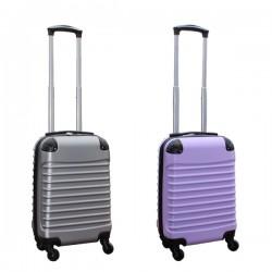 Travelerz kofferset 2 delige ABS handbagage koffers - met cijferslot - 27 liter - zilver - lila