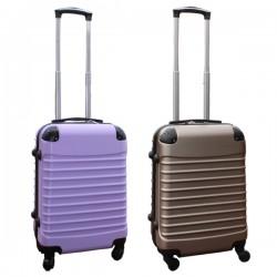Travelerz kofferset 2 delige ABS handbagage koffers - met cijferslot - 39 liter - goud - lila