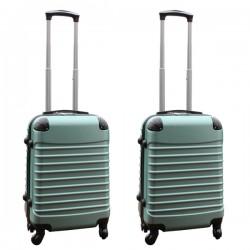 Travelerz kofferset 2 delige ABS handbagage koffers - met cijferslot - 39 liter - groen
