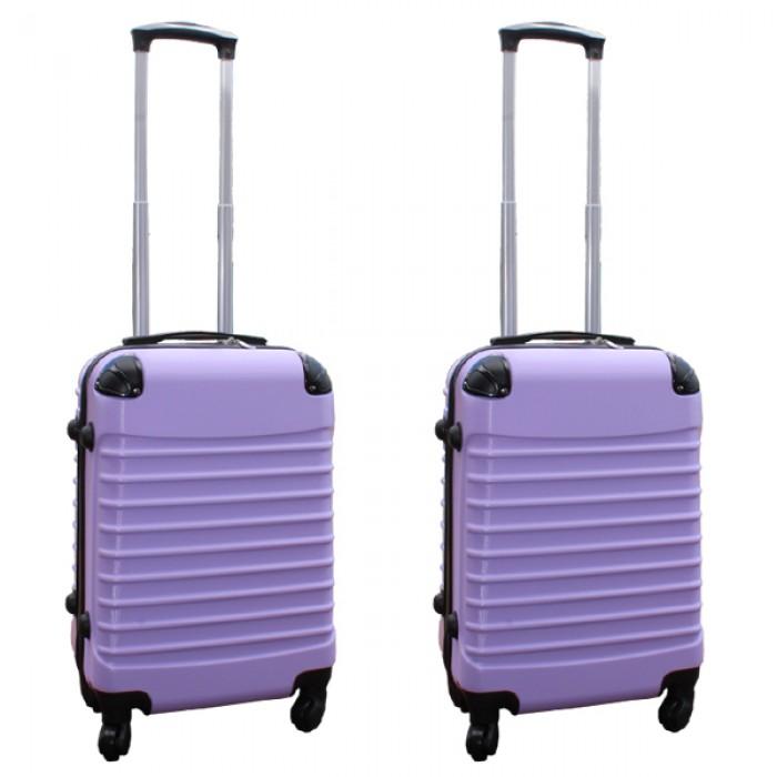 Travelerz kofferset 2 delige ABS handbagage koffers - met cijferslot - 39 liter - lila