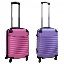 Travelerz kofferset 2 delige ABS handbagage koffers - met cijferslot - 39 liter - lila - licht roze