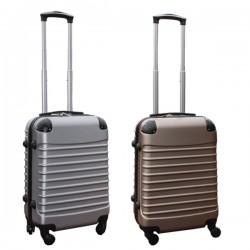 Travelerz kofferset 2 delige ABS handbagage koffers - met cijferslot - 39 liter - zilver - goud